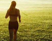 美丽的赛跑者妇女 库存图片