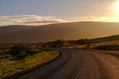 美丽的路在一个国家公园 库存照片