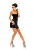 美丽的跳舞工作室妇女 库存图片