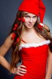 美丽的辅助工圣诞老人 库存图片