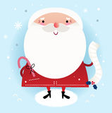 美丽的逗人喜爱的圣诞老人 免版税库存照片