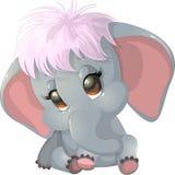 美丽的逗人喜爱的大象 库存照片