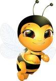 美丽的逗人喜爱的蜂 免版税库存图片