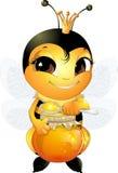 美丽的逗人喜爱的蜂 免版税库存照片