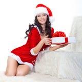 美丽的配件箱服装礼品藏品圣诞老人&# 免版税库存图片