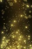 美丽的金子闪烁星和星团 图库摄影