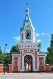 美丽的钟楼芬兰hamina 免版税库存照片