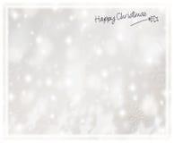 美丽的银色圣诞卡 免版税库存照片