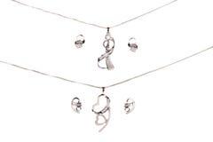 美丽的银色Jewelery 免版税库存照片
