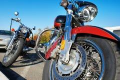 美丽的镀铬物经典之作摩托车 库存图片
