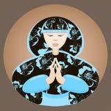美丽的镇静日本妇女 皇族释放例证