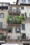 美丽的门面在维罗纳,意大利 库存照片