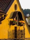 美丽的阳台在布拉格 库存图片