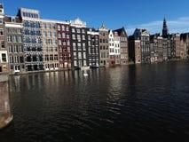 美丽的阿姆斯特丹运河和建筑学  库存照片