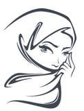 美丽的阿拉伯女孩 库存例证