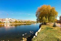 美丽的阿瓦诺斯市在土耳其 库存图片