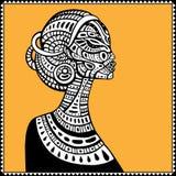 美丽的非洲妇女档案  皇族释放例证
