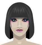 美丽的面孔Girl.Spa.Skin Care.Fresh清洗皮肤 免版税库存图片