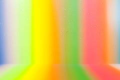 美丽的颜色下落水五颜六色的背景 向量例证