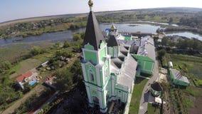 美丽的风景教会在乡下 寄生虫录影 图库摄影