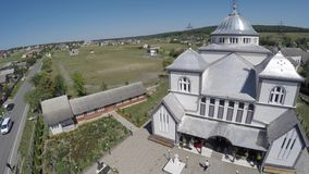 美丽的风景教会在乡下 寄生虫录影 库存图片