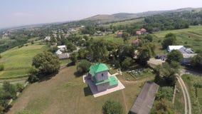 美丽的风景教会在乡下 寄生虫录影 免版税库存图片