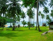 美丽的风景Mu Ko Ang皮带全国海岸公园在泰国 聚会所 免版税库存图片