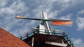 美丽的风车在荷兰-阿姆斯特丹-荷兰- 2017年7月19日 免版税库存照片