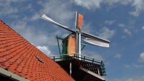 美丽的风车在荷兰-阿姆斯特丹-荷兰- 2017年7月19日 免版税库存图片