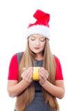 美丽的饮用的妇女年轻人 免版税库存照片