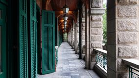 美丽的香港走廊 免版税图库摄影