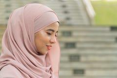 美丽的马来的夫人 免版税库存照片