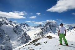 美丽的高加索高山 库存照片
