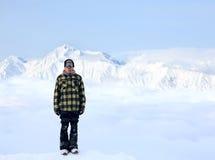 美丽的高加索高山 库存图片