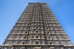 美丽的高塔,王侯Gopuram塔 Murudeshwar 卡纳塔克邦,印度 从果阿的吸引力和Gokarna游览 图库摄影