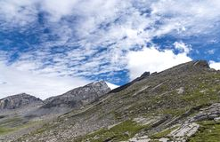 美丽的高Gemmipas 瑞士 免版税库存照片