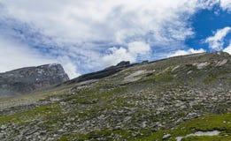 美丽的高Gemmipass 瑞士 免版税库存照片