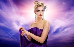 美丽的魅力potrait妇女 库存图片
