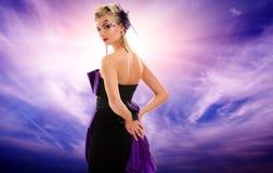 美丽的魅力potrait妇女 免版税库存图片