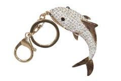 美丽的鱼形状的小装饰品 免版税库存照片