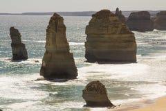 美丽的鸟瞰图十二传道者坎贝尔港国家公园维多利亚好的澳大利亚 库存图片