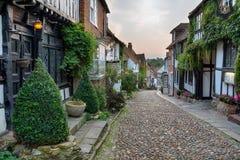 美丽的鹅卵石街道 库存图片