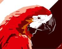 美丽的鹦鹉流行艺术画象  也corel凹道例证向量 库存照片
