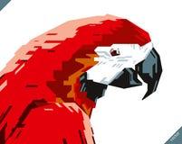美丽的鹦鹉流行艺术画象  也corel凹道例证向量 免版税库存照片