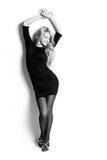 美丽的黑人跳舞礼服女孩 库存图片