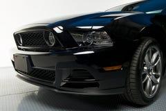 美丽的黑色汽车输入框架 库存图片