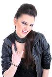 美丽的黑色礼服女孩年轻人 免版税库存图片