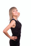 美丽的黑色dres妇女年轻人 库存图片