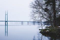 美丽的黑诺拉,芬兰冬天风景  免版税库存图片