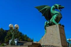 美丽的龙桥梁,卢布尔雅那,斯洛文尼亚 免版税图库摄影